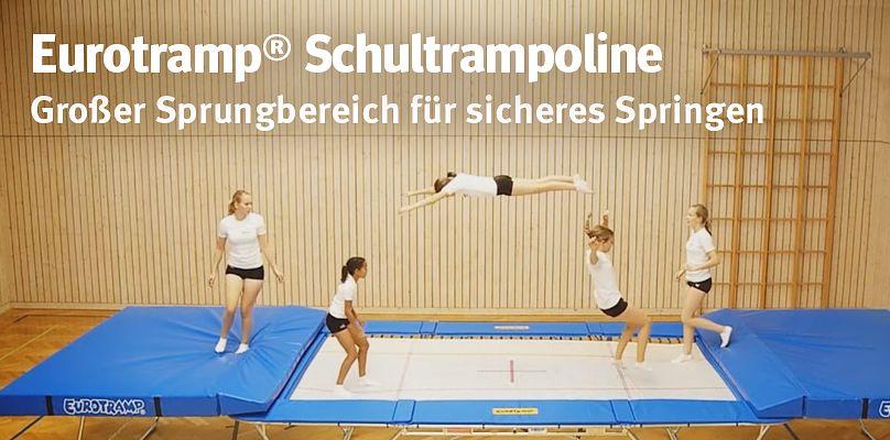 Eurotramp® Schultrampoline - Großer Sprungbereich für sicheres Springen