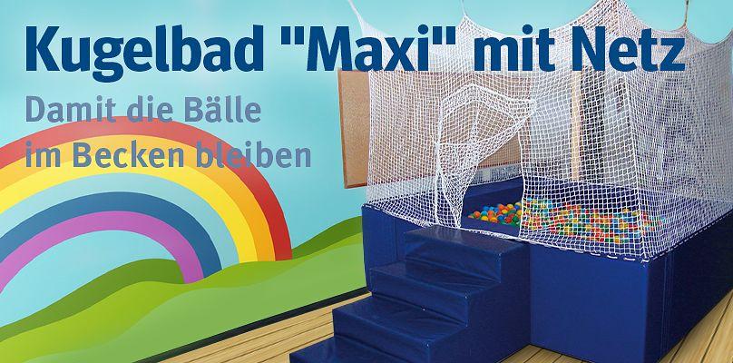 """Kugelbad """"Maxi"""" mit Netz - Damit die Bälle im Becken bleiben"""