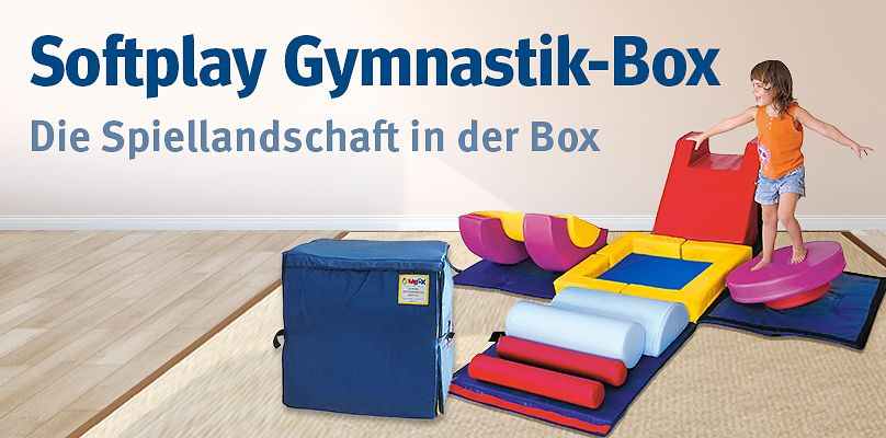 Softplay Gymnastik-Box - Die Spiellandschaft in der Box