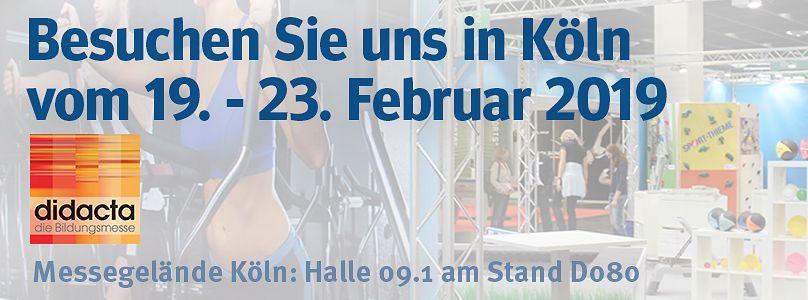 Sport-ThiemeSport-Thieme auf der Didacta - Besuchen Sie uns in Köln!