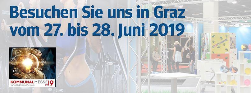 Kommunalmesse Graz: Besuchen Sie uns vom 27. bis 28. Juni 2019