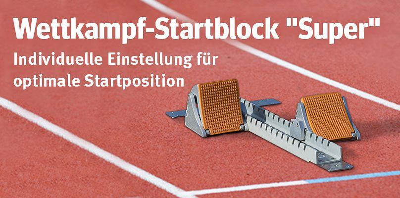 Sport-Thieme Wettkampf-Startblock - Individuelle Einstellung für optimale Startposition