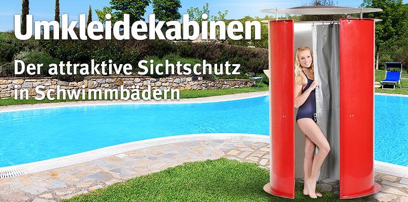 Umkleidekabinen: Der attraktive Sichtschutz in Schwimmbädern
