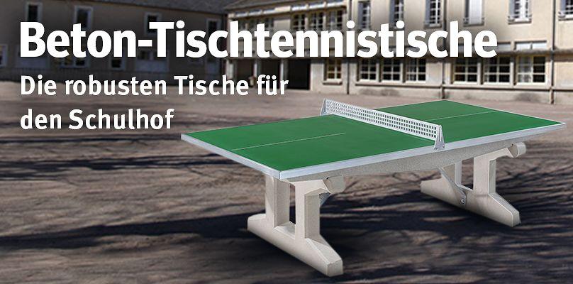 Beton-Tischtennistische - die robusten Tische für den Schulhof