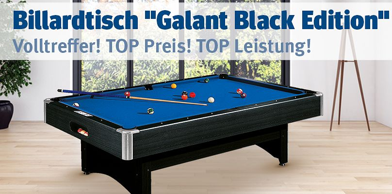 "Automaten Hoffmann® Billardtisch ""Galant Black Edition"""