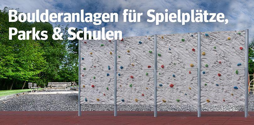 Boulderanlagen für Spielplätze, Parks & Schulen
