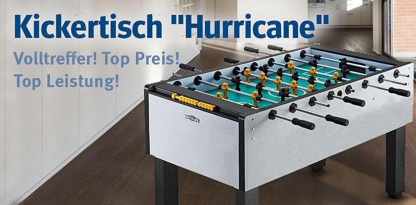 "Automaten Hoffmann Kickertisch ""Hurricane"" - Volltreffer! Top Preis! Top Leistung!"
