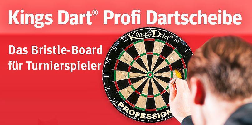 Kings Dart® Profi Dartscheibe - Das Bristle-Board für Turnierspieler