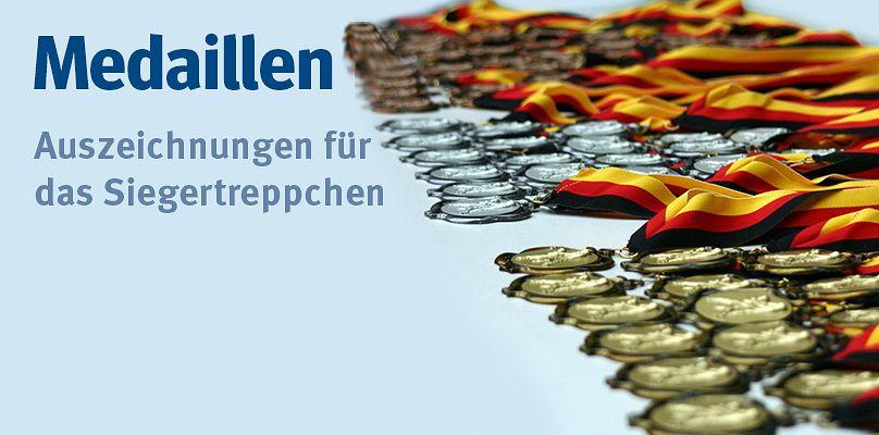 Medaillen - Auszeichnungen für das Siegertreppchen