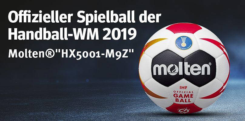 Molten-HX5001-M9Z - Offizieller Spielball der Handball WM 2019
