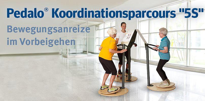 Pedalo® Koordinationsparcours 5S  - Bewegungsanreize im Vorbeigehen