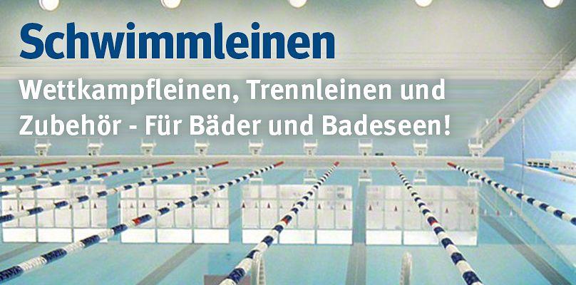 Schwimmleinen - Wettkampfleinen, Trennlinien, und Zubehör