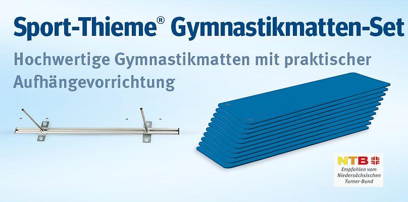 Sport-Thieme Gymnastikmatten-Set - Hochwertige Gymnastikmatten mit praktischer Aufhängevorrichtung