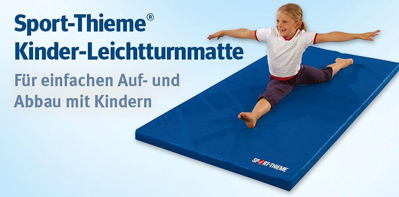Sport-Thieme Kinder-Leichtturnmatte - Für einfachen Ein- und Abbau mit Kindern
