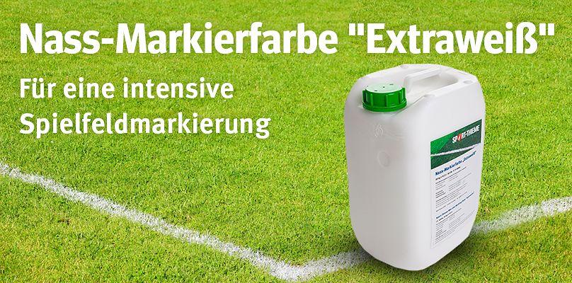 """Sport-Thieme® Nass-Markierfarbe """"Extraweiß"""" - Für eine intensive Spielfeldmarkierung"""