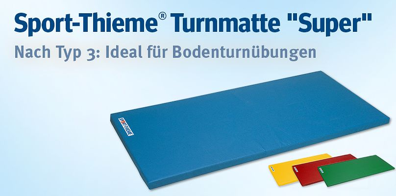 "Sport-Thieme Turnmatte ""Super"" - Nach Typ 3: Ideal für Bodenturnübungen"