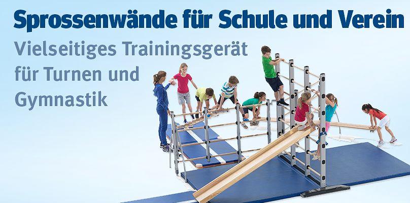 Sprossenwände für Schule und Verein - Vielseitiges Trainingsgerät für Turnen und Gymnastik