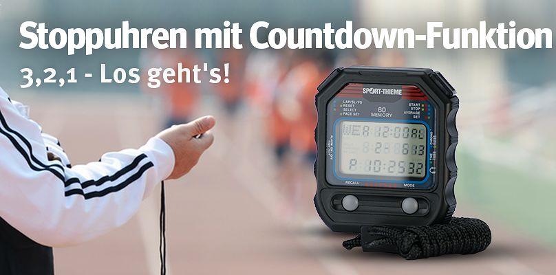 Stoppuhren mit Countdown-Funktion - 3,2,1 - Los!