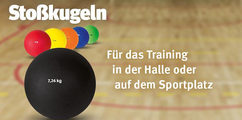 Stoßkugeln für das Training in Halle und Sportplatz