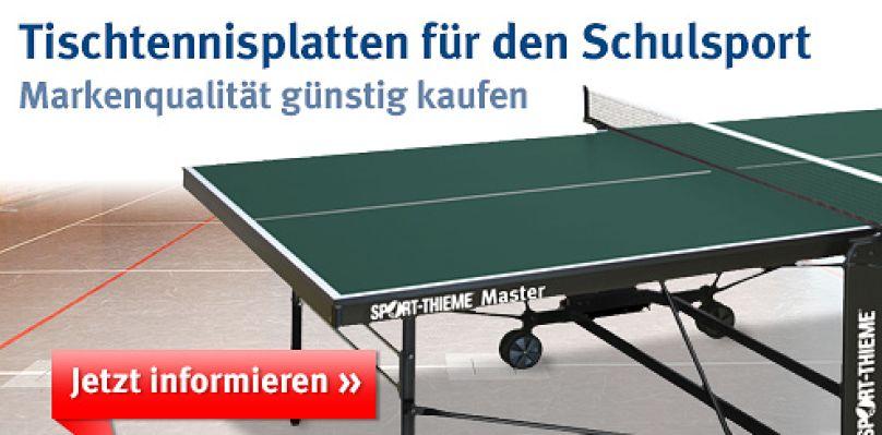 Tischtennisplatten für den Schulsport bei Sport-Thieme®